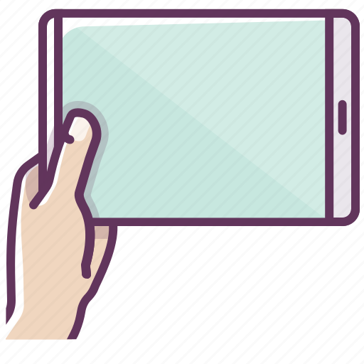 appliance, communication, electronics, hand, ipad, tablet, technology icon