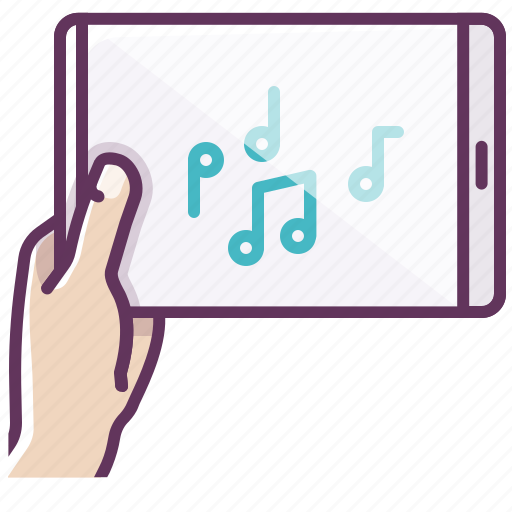 appliance, electronics, hand, ipad, music, notes, tablet icon