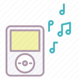 appliance, electronics, music, notes, play, sound, volume icon