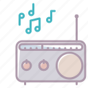 device, electronics, music, notes, radio, sound, volume icon