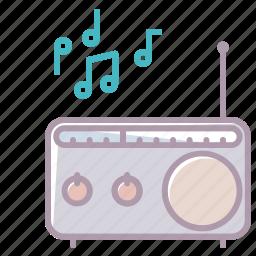 device, electronics, music, notes, radio, sound, volume icon