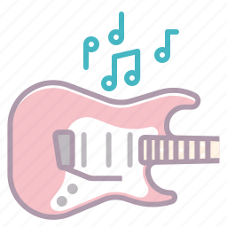 appliance, electronics, guitar, music, notes, play, sound icon