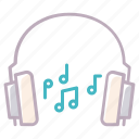 audio, device, headphones, music, notes, play, sound icon