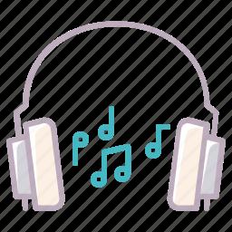 audio, device, headphones, music, notes, play, sound icon
