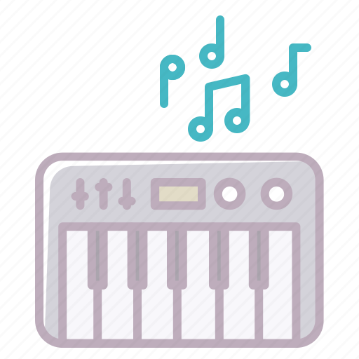 appliance, audio, electronics, music, notes, piano, sound icon