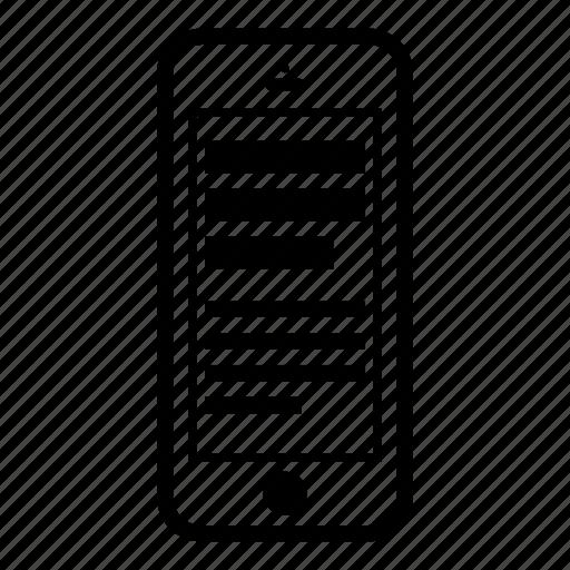 content, device, ios, phone icon