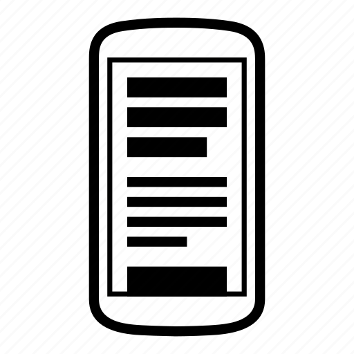 android, content, device, phone icon