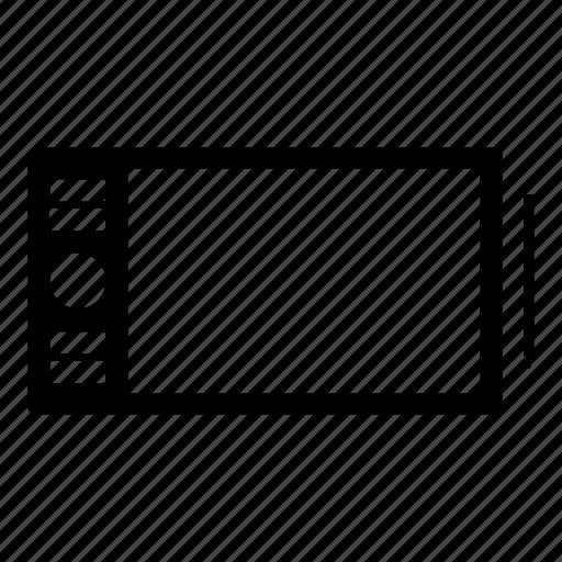 draw, graphic, tablet, wacom icon