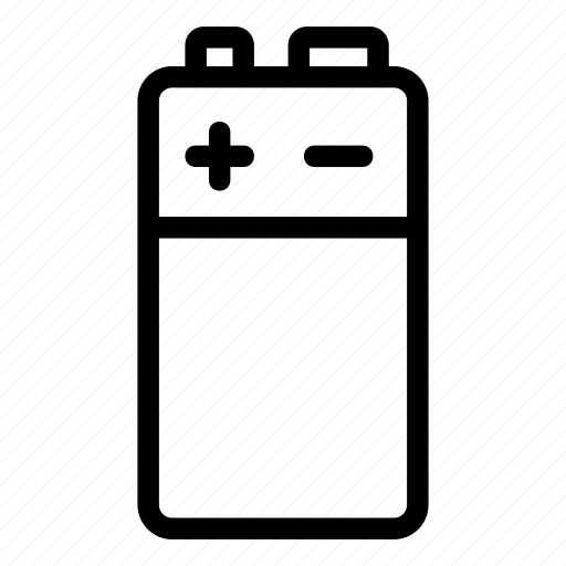 battery, energy, minus, plus, polarity, volt icon