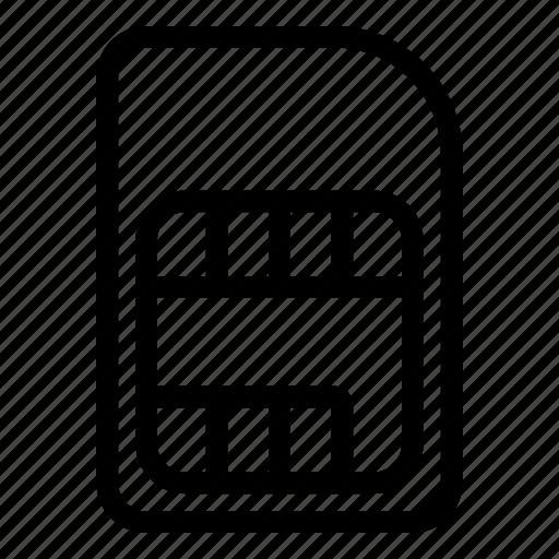card, com, sim icon