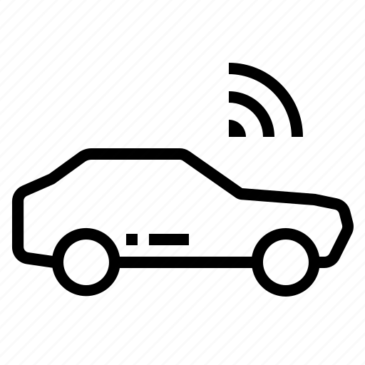 car, technology, transport, vehicle, wifi icon