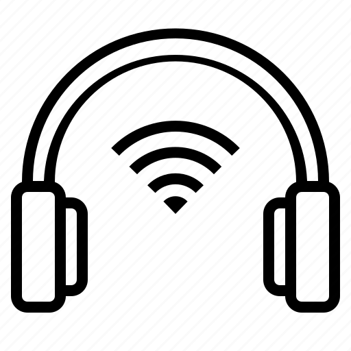 device, earphones, sound, technology icon