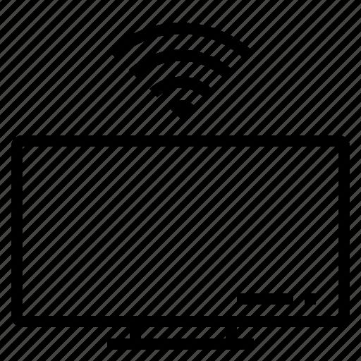 device, screen, television, wifi icon