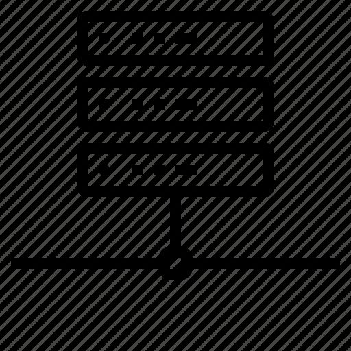 Connectivity, lan, file, server icon