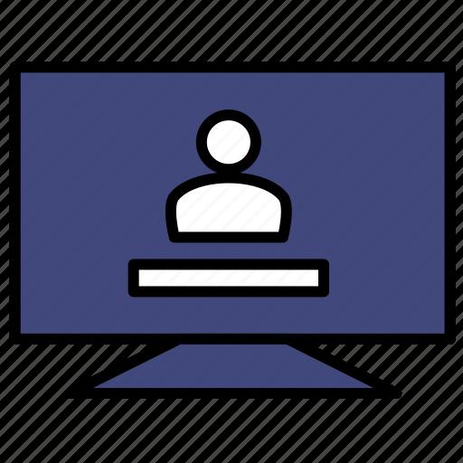 computer, data, monitor, personalization, technology icon