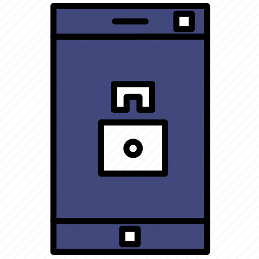 locked, mobile, phone, smartphone icon