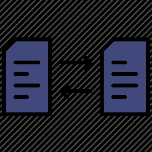 data, document, file, transfer icon