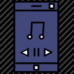 audio, multimedia, music, phone, player icon