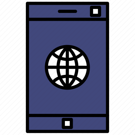 connection, internet, mobile, phone icon
