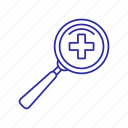 glass, magnify, magnifying glass, tool icon icon