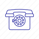 call, circle, old phone, phone icon, retro icon