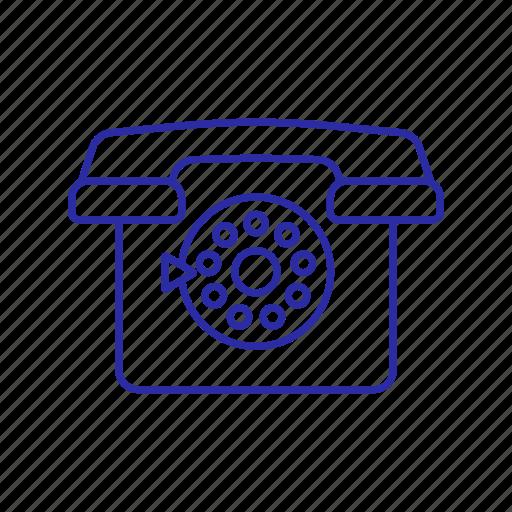 call, circle, old phone, phone icon, retro icon