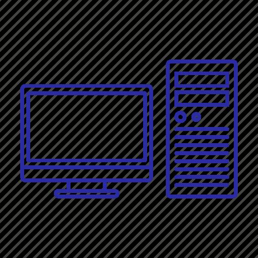 computer, device, monitor, pc icon