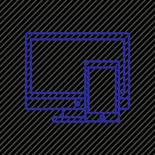 device, monitor, pc screen, phone icon