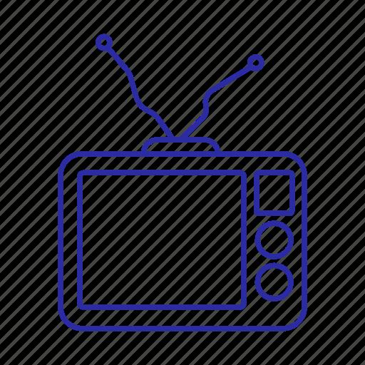 device, media, television, tv icon, tv set icon