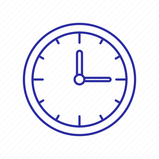 minut, time, wall, wall clock icon