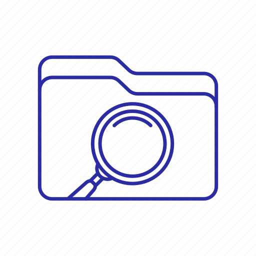 folder, folder icon, magnifier, search icon