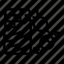 bar, bonbon, chocolate, food, logo, party, silhouette icon