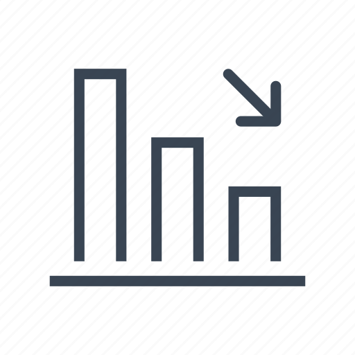 bar, chart, crisis, decrease, diagram, graph icon