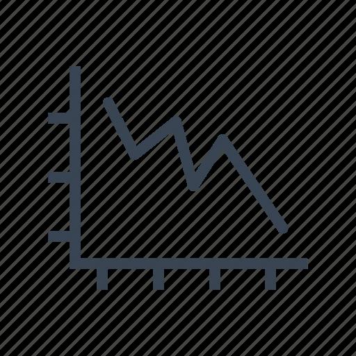 chart, crisis, decrease, diagram, graph, statistics icon
