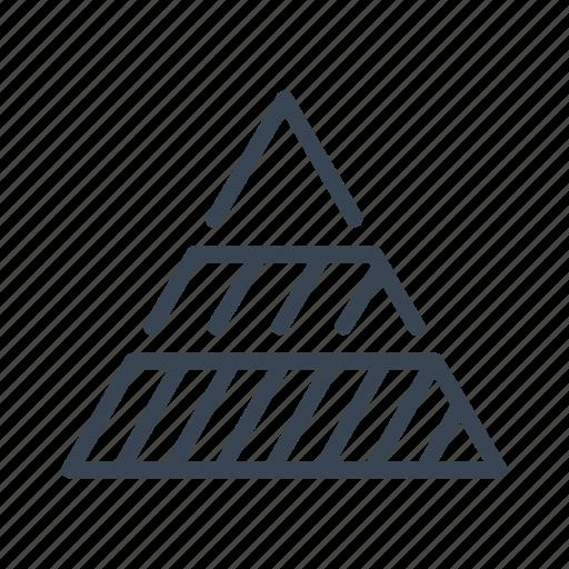 chart, diagram, hierarchy, organisation, pyramid icon