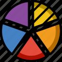 analytics, chart, graph, pie
