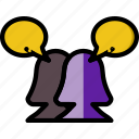 communication, conversation, dialogue, discussion icon
