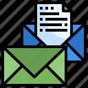 communications, envelope, envelopes, interface, multimedia icon