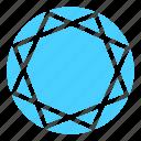 diamond, diamond shape, gem, jewelry, stone, trillion icon