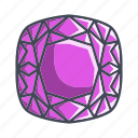 cushion, diamond, gemstone, stone icon