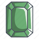 brilliant, diamond, emerald, gemstone, jewelry icon