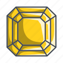 diamond, gemstone, jewelry, radiant, stone icon