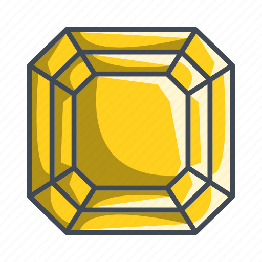diamond, gemstone, jewelry, radiant, stone icon