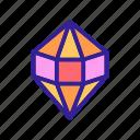 contour, diamonds, shell icon