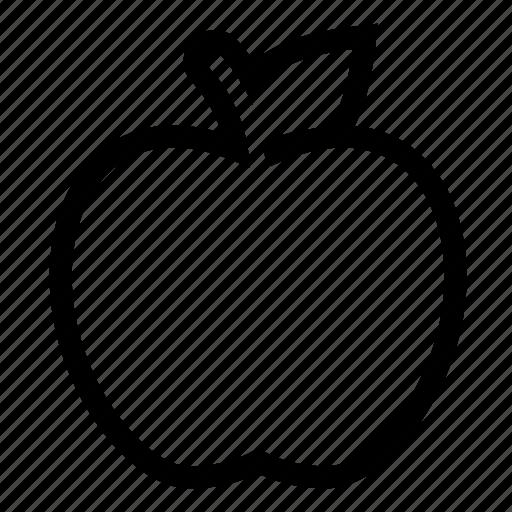 apple, diet, health, vegetable icon