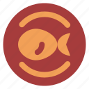 diet, fish, food, health, plate icon