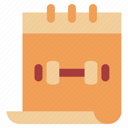 calendar, diet, fitness, gym, schedule icon