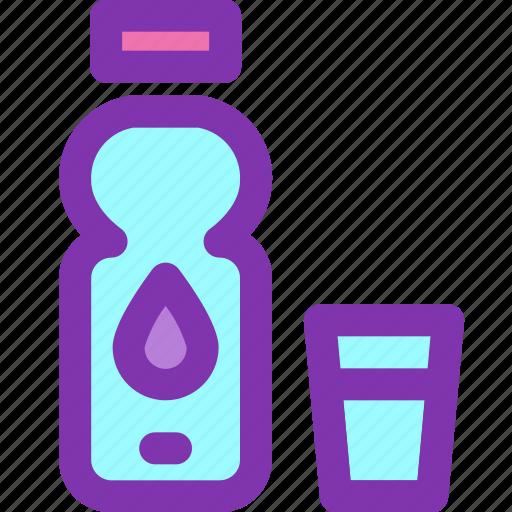 bottle, dehydration, drink, glass, water icon