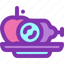 apple, diet, food, healthy, meat icon
