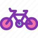 bicycle, bike, diet, fitness, gym icon
